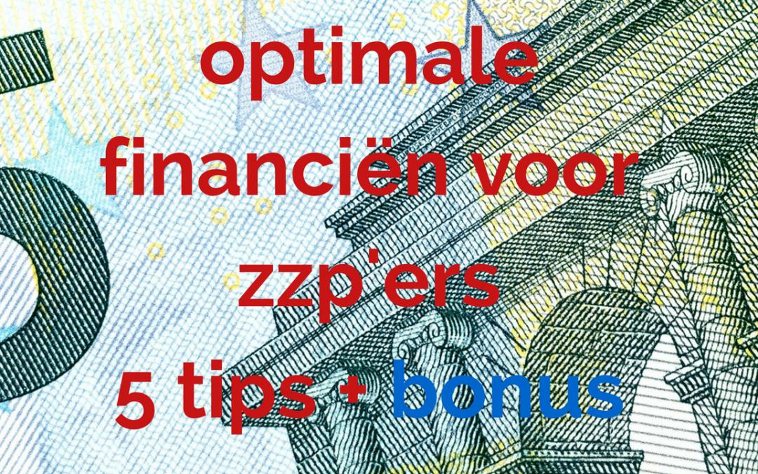 """Afbeelding met tekst """"optimale financiën voor zzp'ers"""""""