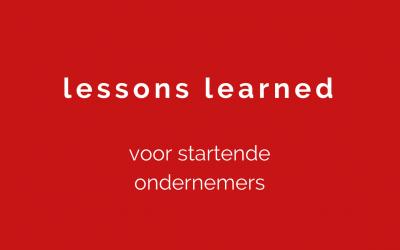 Blog: 3 ondernemerslessen voor starters (2018)